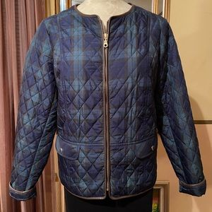 """NWOT """"Talbots"""" Quilted Jacket w/ faux leather trim"""